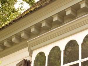 Great example of Exterior Dentil molding.