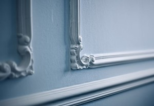 Close-up of Victorian molding