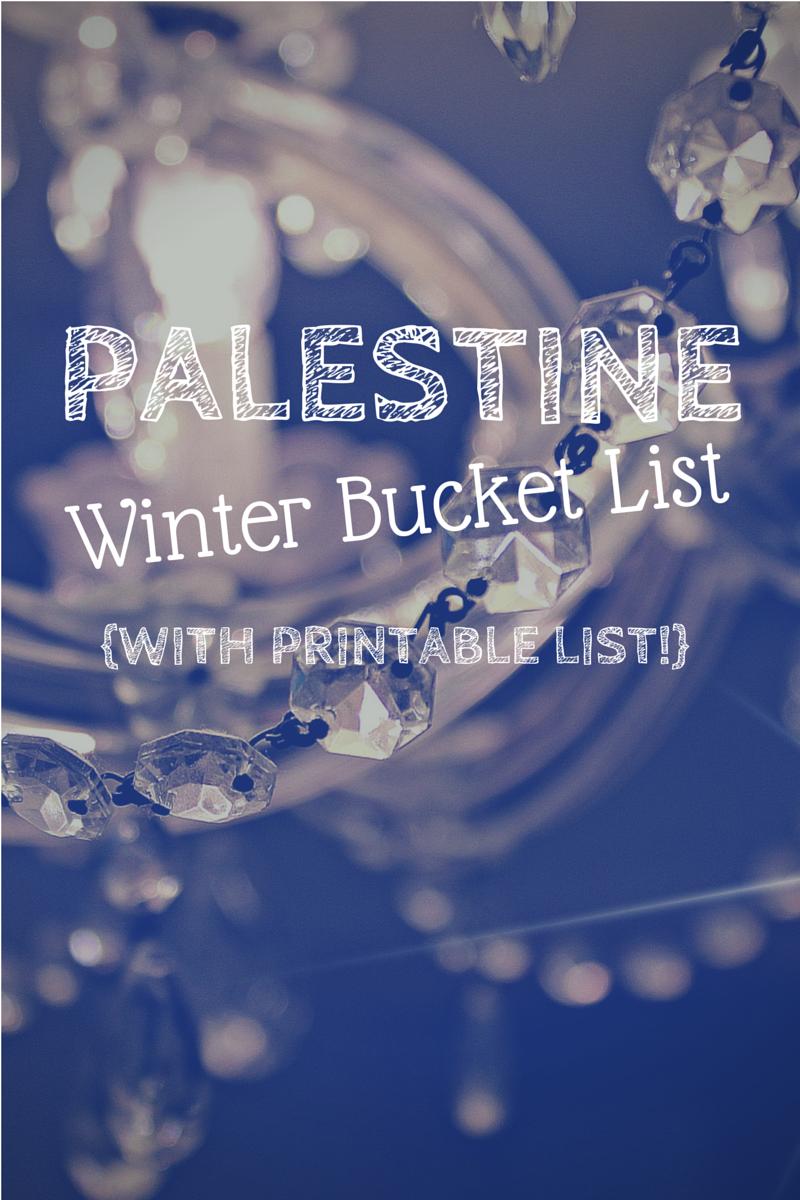 Palestine TX Winter Bucket List