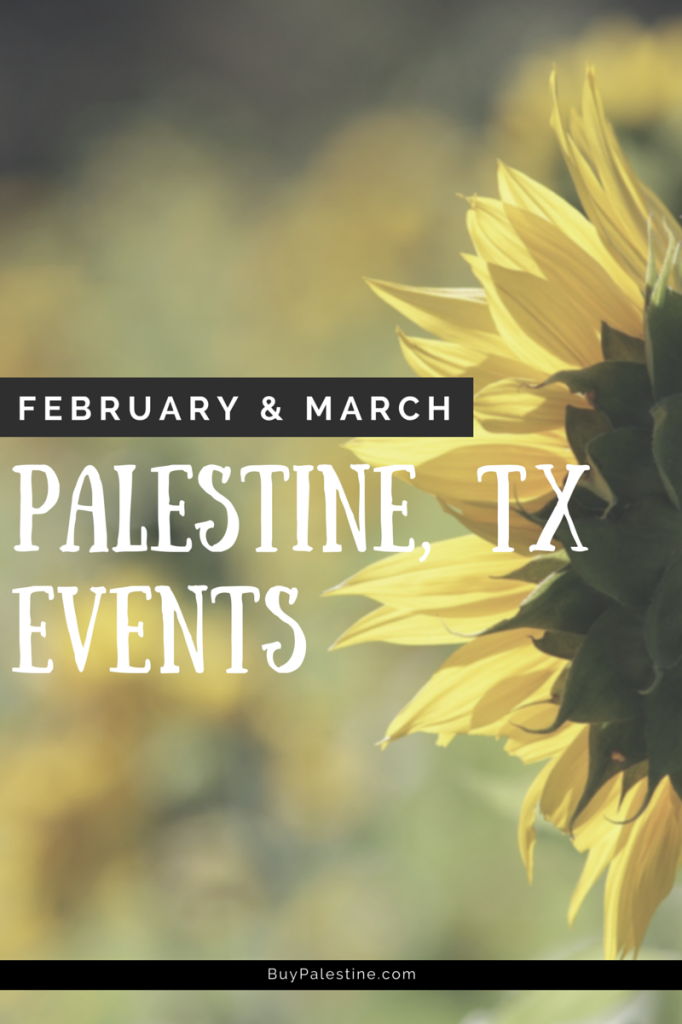 February March 2015 Palestine Tx Events