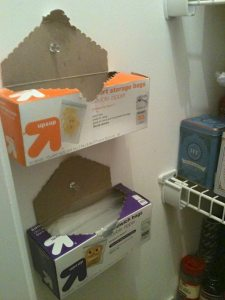 A very simple way to make use of the wall space in your pantry and to gain more shelf space! Via Pinterest