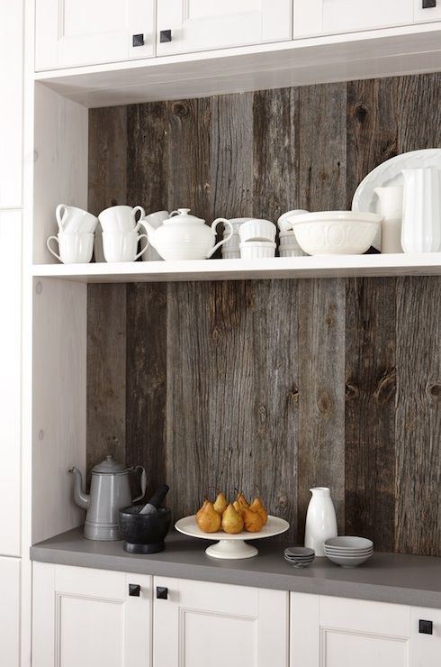 Such a neat look! Rustic and chic! Image via Sarah Richardson Design