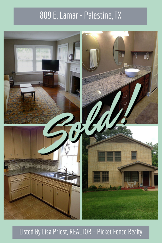 Another House SOLD! - Palestine TX Real Estate & Houses - April 2015