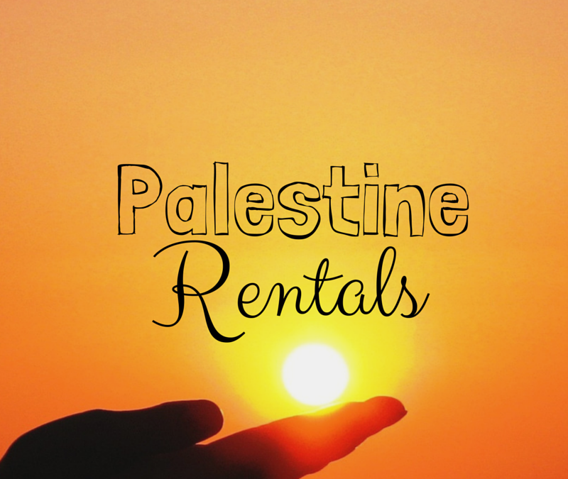 Palestine Rentals – My Openings as of May 26, 2015