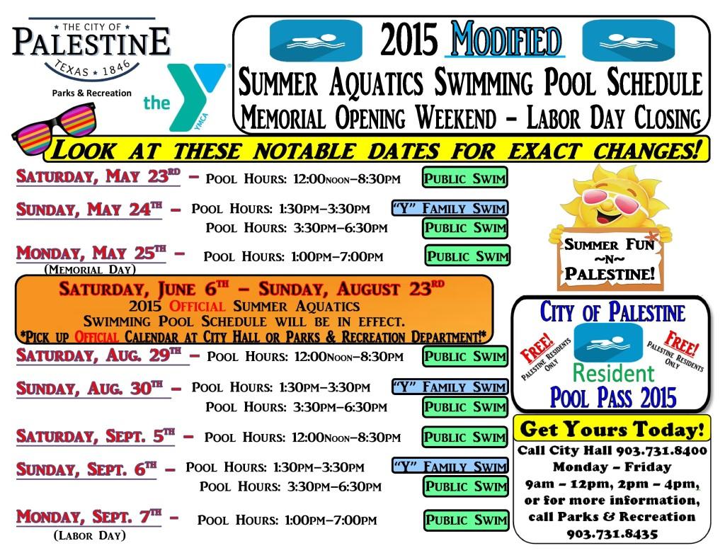 Palestine TX Public Pool is Open!
