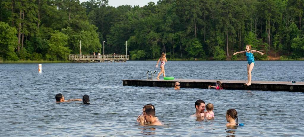 Swim at Lake Tyler at Tyler State Park! Image via Texas State Parks.
