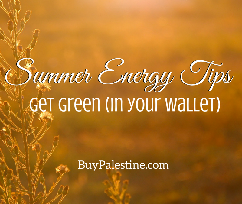 Summer Energy Tips: Get Green (in your wallet)