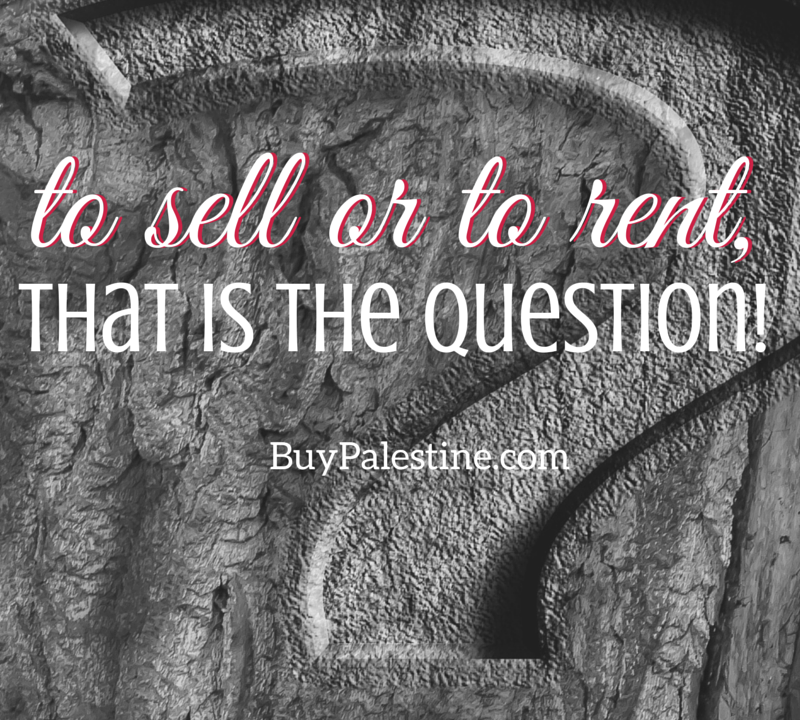 to sell or to rent, that is the question