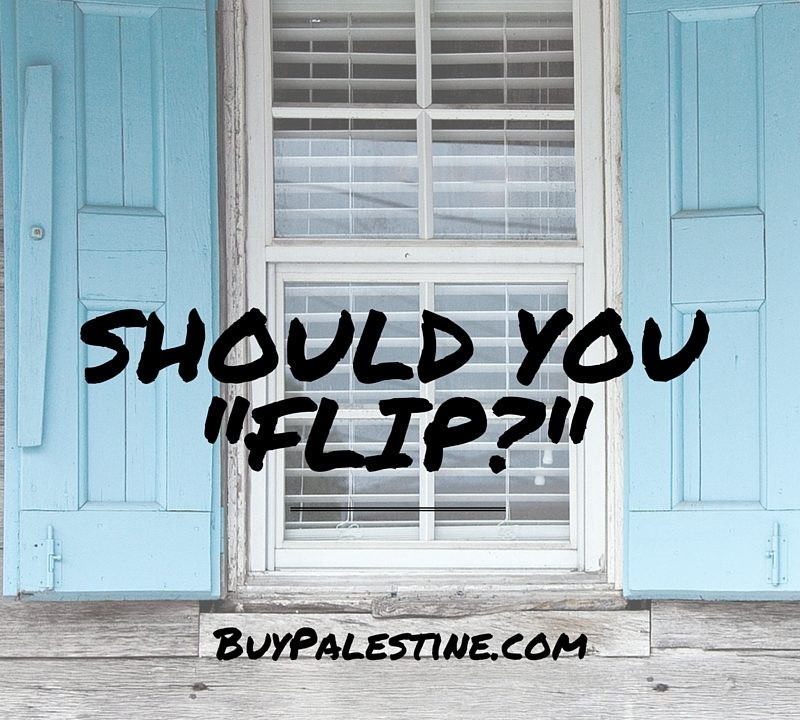 SHOULD YOU FLIP HOUSES?