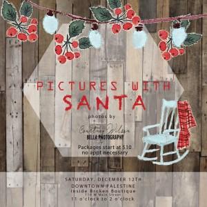 pics with santa at broken boutique