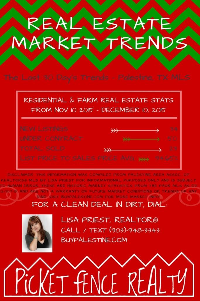 Palestine TX Real Estate Market Report– December 2015 INFOGRAPHIC
