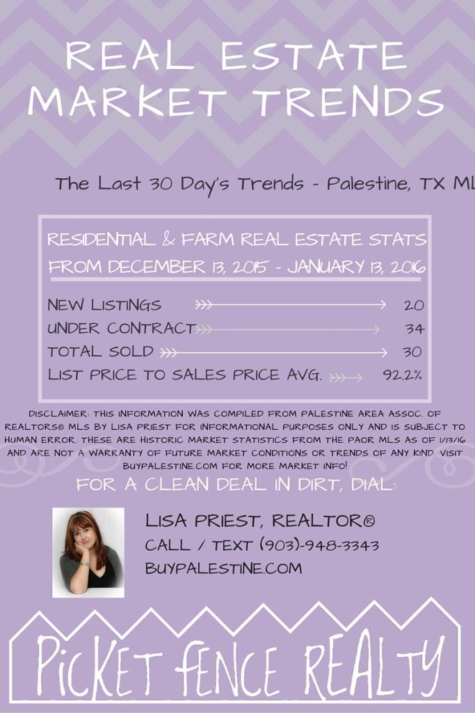 Palestine TX Real Estate Market Report– January 2016
