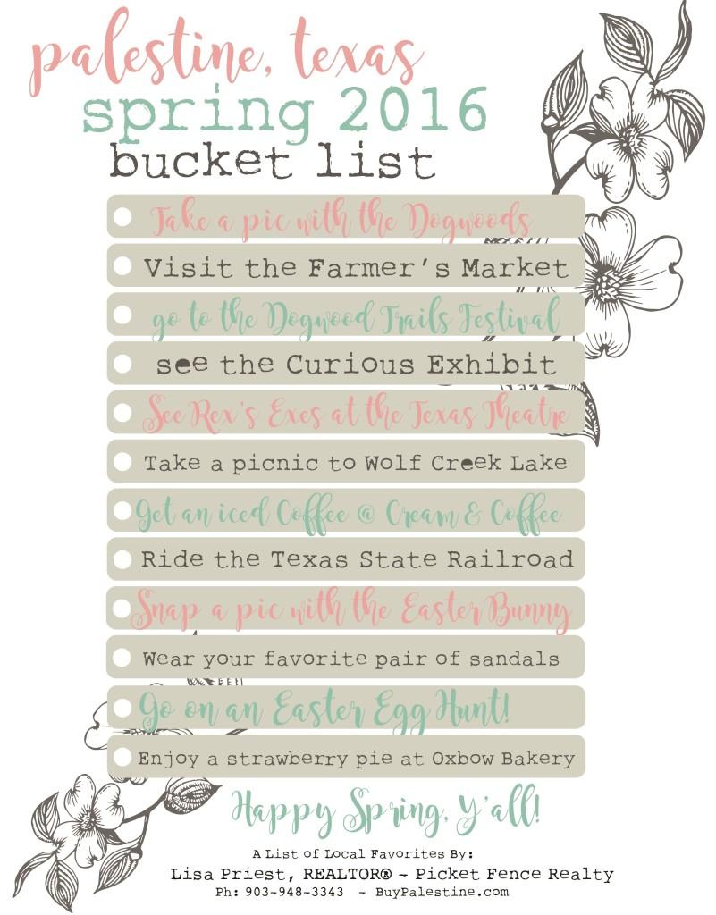 Spring 2016-Bucket-List-PalestineTX