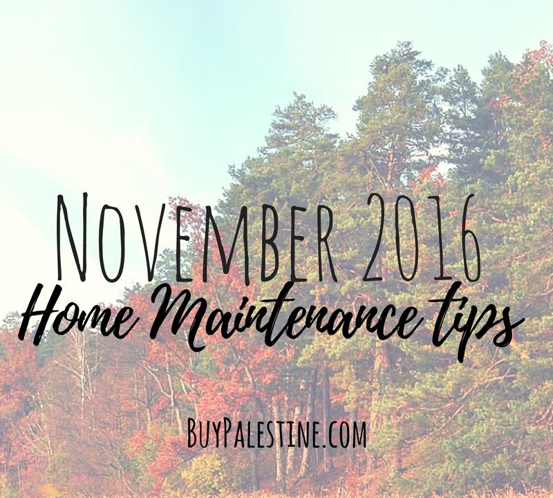 November Home Maintenance Tips