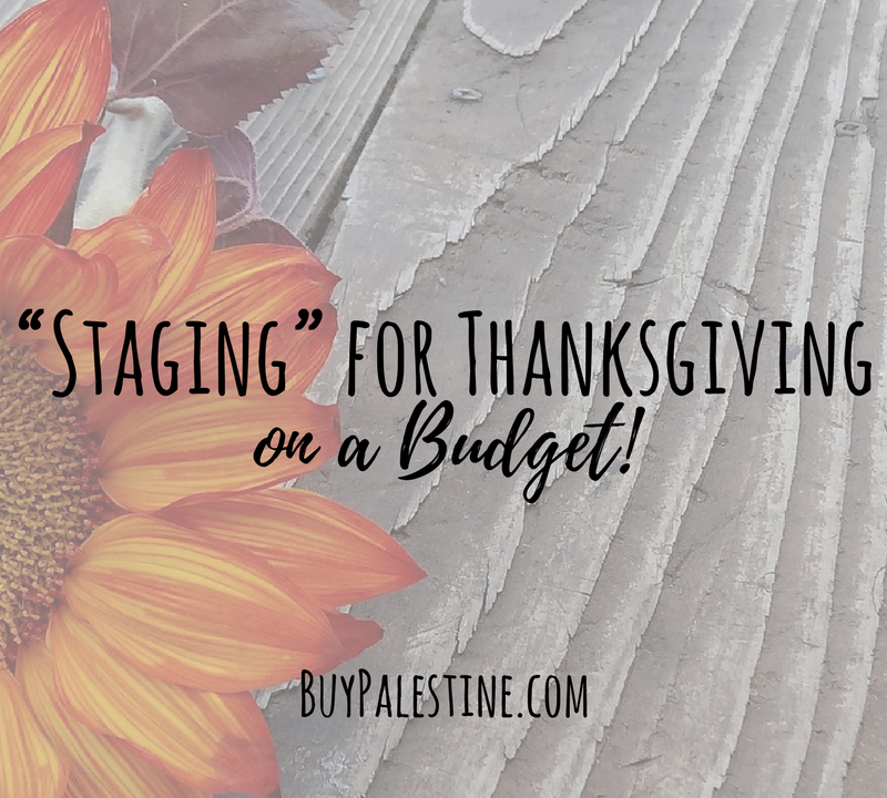"""Staging"" a Home for Thanksgiving on a Budget"