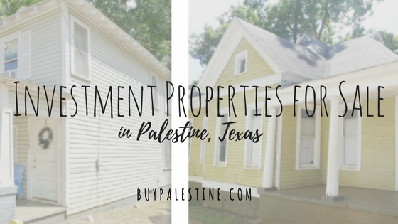 Investment Properties for Sale in Palestine TX