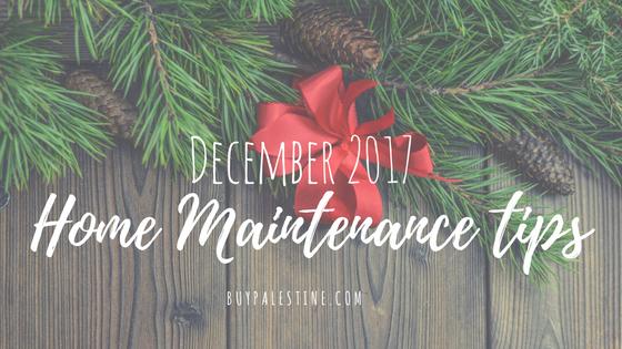 December Seasonal Home Maintenance Tips
